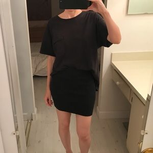 Kendall & Kylie black knit mini skirt small cotton